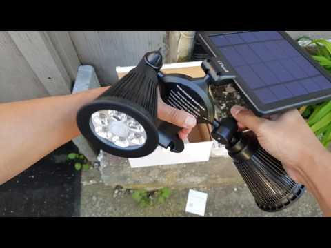 iThird Solar Powered Outdoor Motion Sensor LED Spotlight Review (Highly Recommend) Part: 1 [4K]