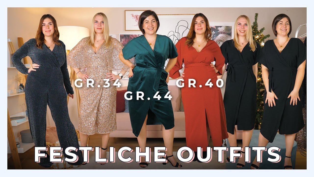 festliche outfits grÖße 34 vs. grÖße 40 vs. grÖße 44 vergleich | wem stehen  die looks am besten?