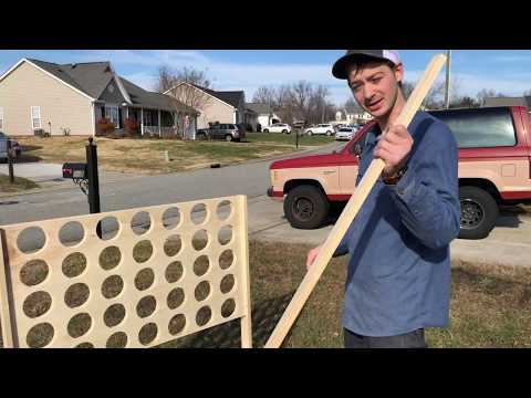 How to Build a Giant Connect 4 Game for the Backyard