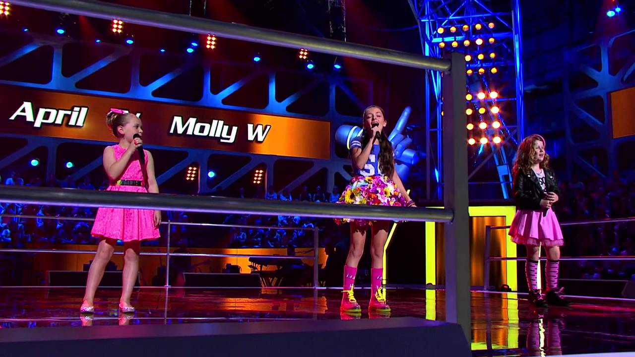 Molly S, April and Molly W Sing Over The Rainbow | The Voice Kids Australia 2014