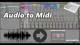 Как из аудио семпла получить midi клип в ableton live 9?