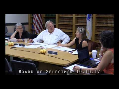 Board of Selectmen 10.10.17