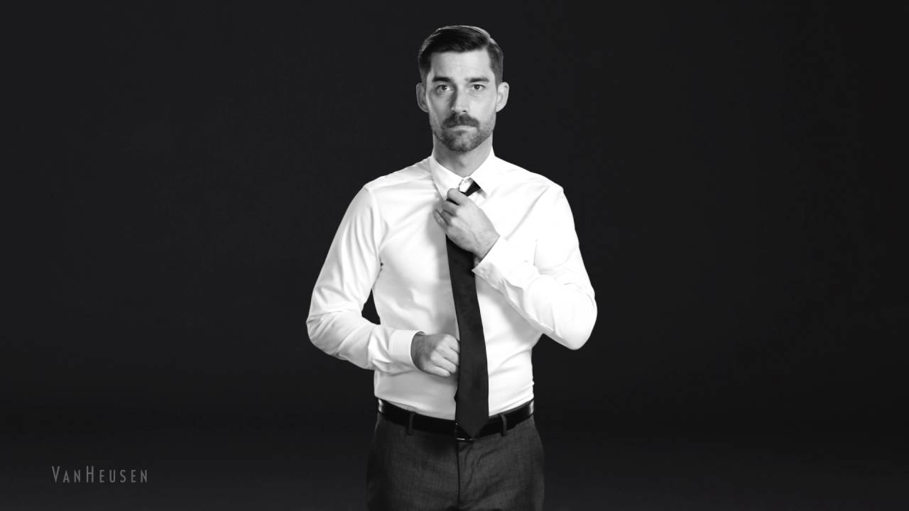 How To Tie A Tie  Four In Hand  Van Heusen