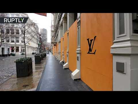 RT: Pausing Luxury | NY SoHo boutiques boarded up as COVID-19 cases surge