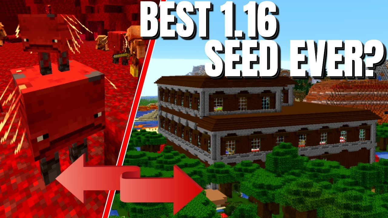 The Best Minecraft Seeds For The 1 16 Nether Update Could This One Be The Winner Top Seeds Tours Youtube