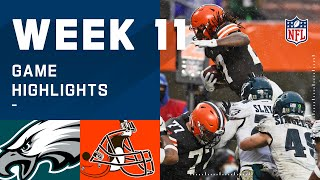 Eagles vs. Browns Week 11 Highlights | NFL 2020