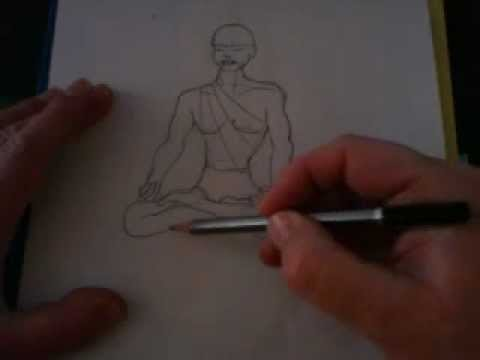 How To Draw Full Lotus Meditation Posture