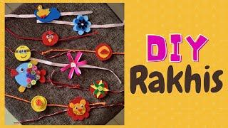 How to make Rakhi at Home   10 easy Rakhi ideas  DIY easy Rakhi for kids   Raksha Bandhan Special