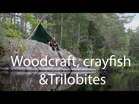 Woodcraft, crayfish and trilobites in Southern Sweden.