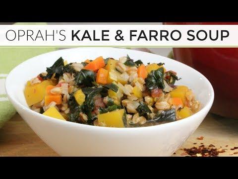Oprah's Kale + Farro Soup