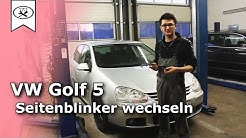 VW Golf 5 Seitenblinker wechseln | Switch side markers | VitjaWolf | Tutorial | HD