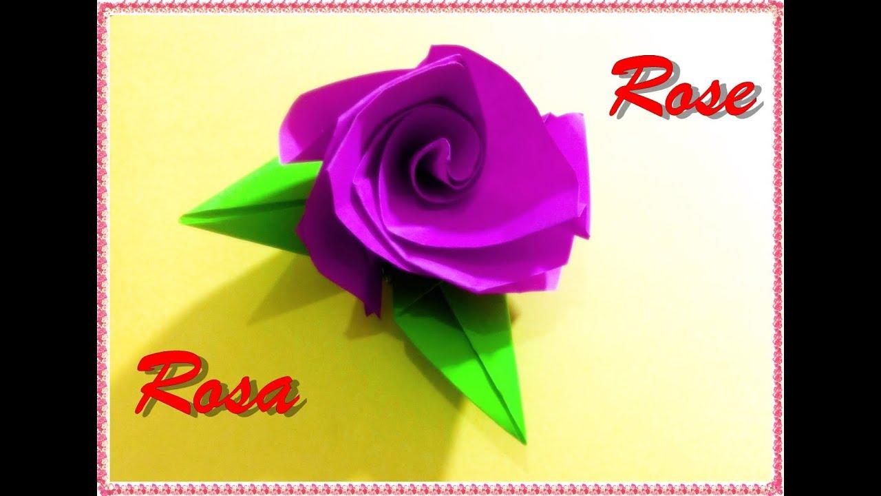 C mo hacer una rosa de papel origami regalo para tu - Papel de regalo transparente ...
