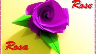 Cómo hacer una rosa de papel - origami - regalo para tu novia