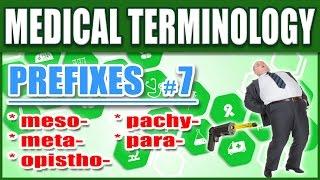 🏥 Medical Terminology Prefixes 7 | Memorize Nursing Dictionary Biology Words Made Easy