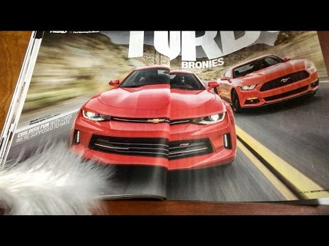 ASMR Flipping Thru Motor Trend Auto Magazine, Whispering, Chewing Gum, Gentle Page Turning
