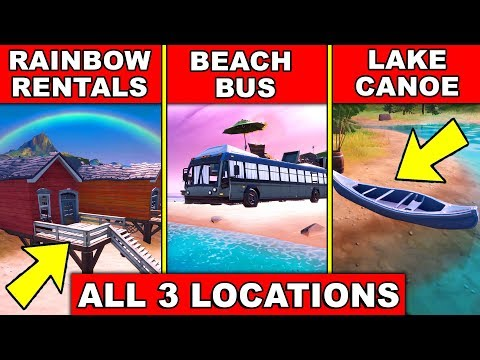 DANCE AT RAINBOW RENTALS, BEACH BUS AND LAKE CANOE *LOCATIONS* 8 BALL VS SCRATCH CHALLENGES FORTNITE