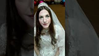Mahis beauty saloon bridal makeup in white beautiful dress for booking call us 03324231698