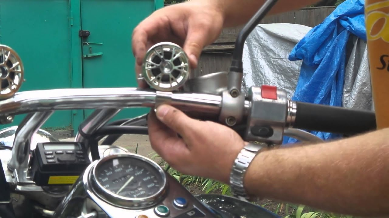 Колонки для мотоцикла своими руками