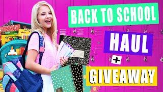 School Supply Haul + HUGE Giveaway!