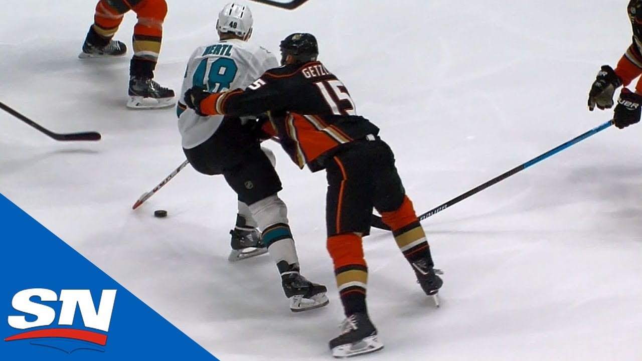 Getzlaf Cross-Checks Hertl, Perry Checked Into Ducks' Bench