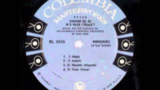 Haydn: Symphony no. 102 (Bruno Walter - rec. 1953 - Vinyl LP)