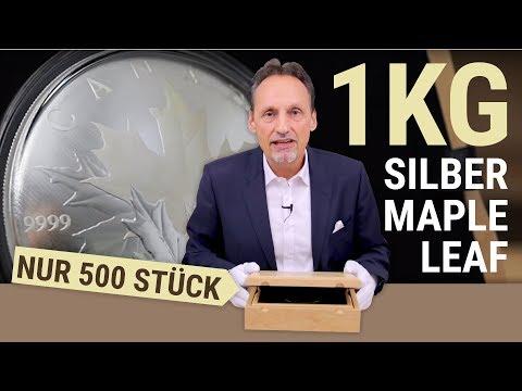 1 KG SILBER MAPLE LEAF (NUR 500 STÜCK)