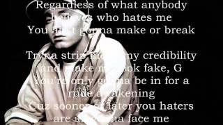 Repeat youtube video Eminem ft. 50 Cent, Nate Dogg - Never Enough Lyrics