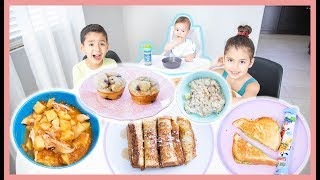 What My 3 Kids Eat In A Day! BABY & KIDS MEAL IDEAS
