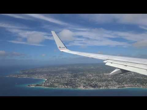 Landing in:  BGI Grantley Adams International Airport in Barbados on American Airlines