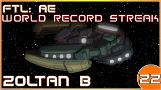 FTL: AE | World Record Hard Mode Winstreak | Zoltan B | 22/39