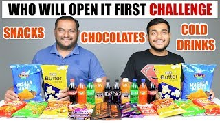 WHO WILL OPEN IT FIRST CHALLENGE | Eating Challenge | Food Eating Competition | Food Challenge