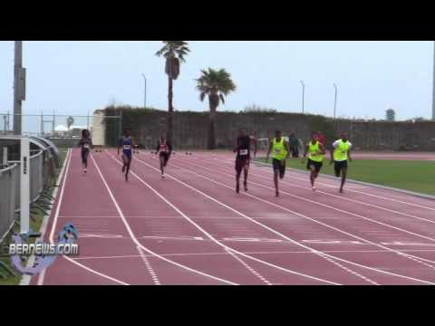 100 Metre Track & Field National Sports Centre Bermuda Feb 12th 2011