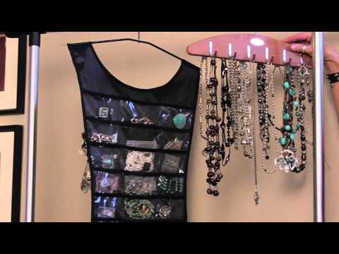 How to Hang Jewelry Organizers : Organizing With Style