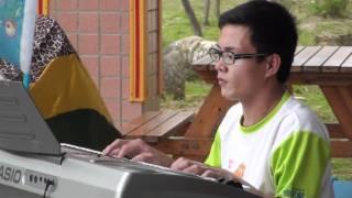 甲你攬牢牢 饅頭王子 電子琴演奏 同安國小 劉其偉畫展開幕音樂會06