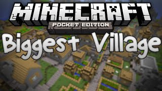 massive village seed biggest village in mcpe minecraft pe pocket edition
