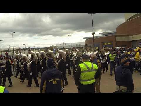OSU band arrives at Michigan Stadium 2017