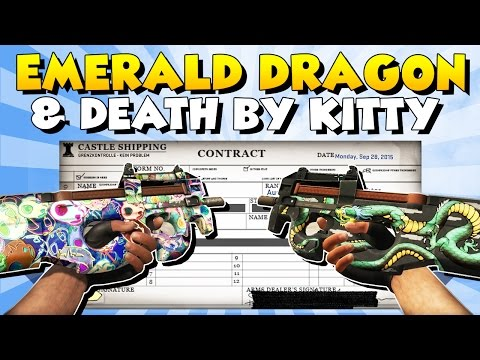 CS:GO - StatTrak P90 Emerald Dragon & Death by Kitty Trade Up - Road To Dream Loadout!