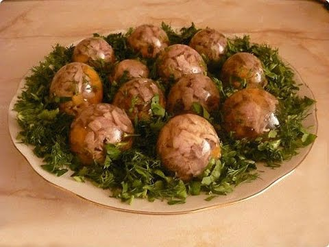 как приготовить и украсить заливное из мяса