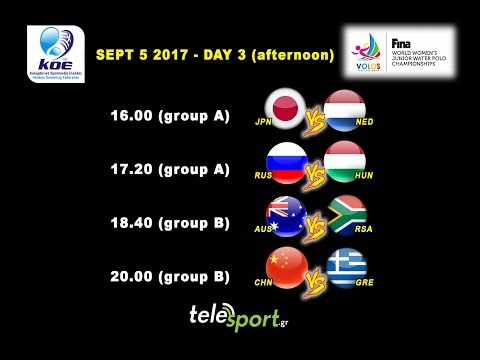 FINA WORLD WOMEN'S JUNIOR WATER POLO CHAMPIONSHIPS 2017 - DAY 3 (afternoon)