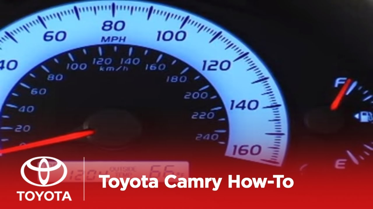 2007 2009 Camry How To Odometer And Tripmeters Ce Le Se Toyota