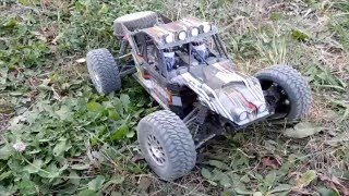 fs 1 10 2 4gh 4wd brushed desert buggy on track треке