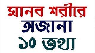 মানব শরীরের অজানা ১০টি তথ্য - 10 Facts about Human Body in Bangla