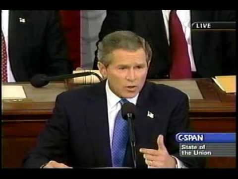 2003 State of the Union - Bush prepares to invade Iraq pt 1