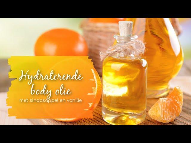 Hydraterende body olie, met sinaasappel en vanille.