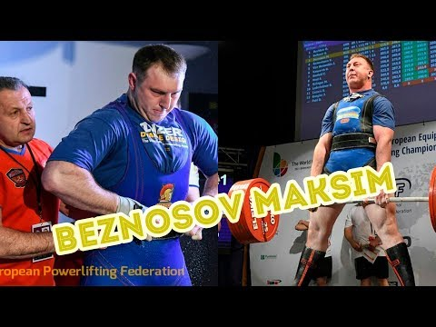 Beznosov Maksim - 860kg 3rd Place @120kg IPF Russian Powerlifting RAW Nationals 2020, Arkhangelsk