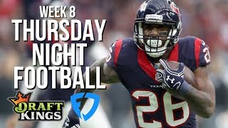 NFL WEEK 8 THURSDAY NIGHT FOOTBALL DRAFTKINGS AND FANDUEL LINEUPS AND STRATEGY — DOLPHINS VS. TEXANS