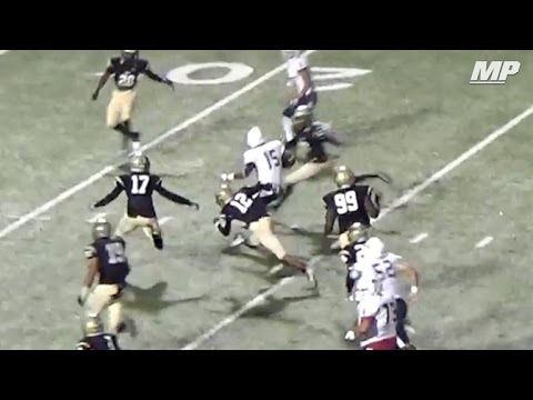 Allen (TX) running back jukes defender and houses it