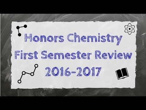 Honors Chemistry First Semester Review 2016 YouTube