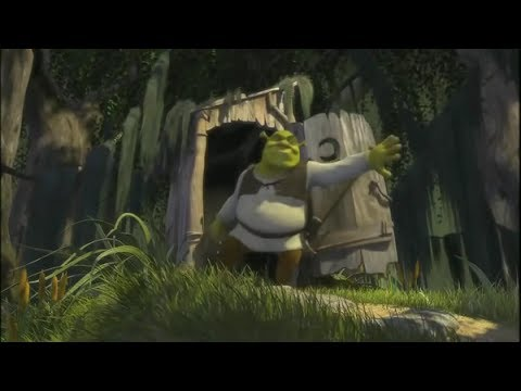 Shrek opening scene but every word is replaced with somebody