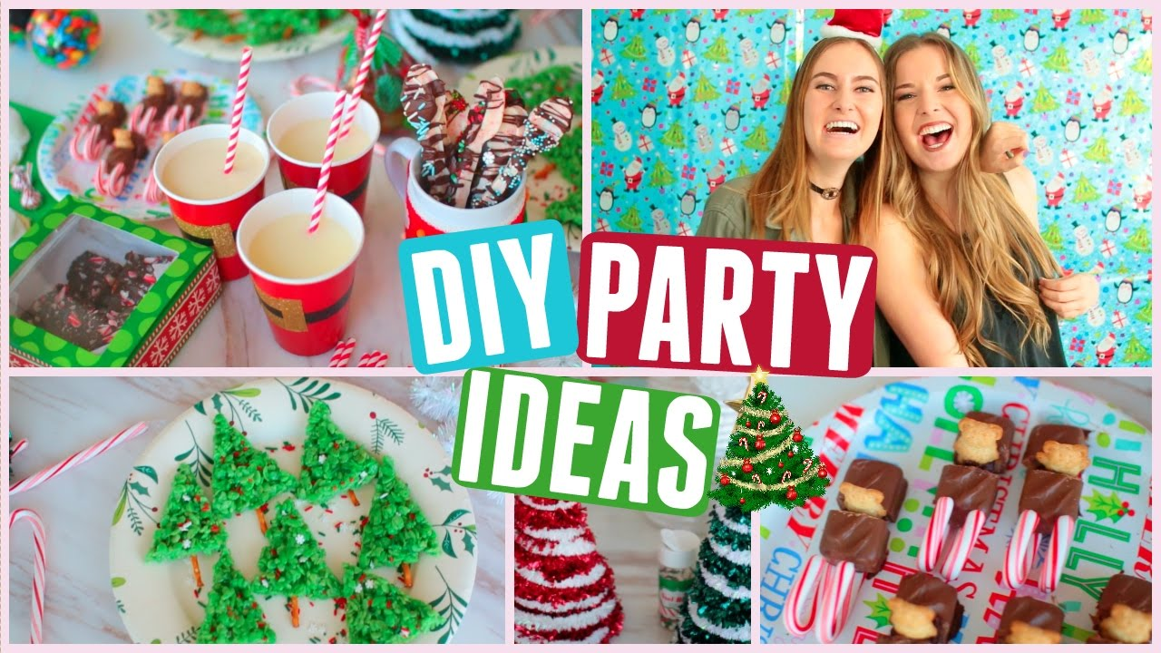 Diy Christmas Party Ideas Part - 19: DIY Christmas Party! Holiday Treats, Decor U0026 Outfit Ideas! - YouTube